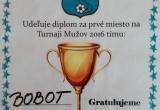 Diplom za 1. miesto pre TJ Tatran Bobot